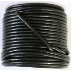 Cordon de Cuero Negro 2.5mm