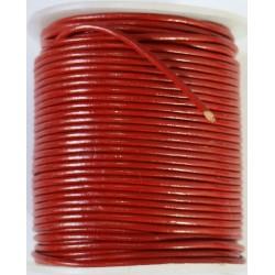 Cordon de Cuero Rojo 2mm