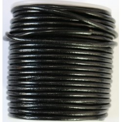 Cordon de Cuero Negro 3.5mm
