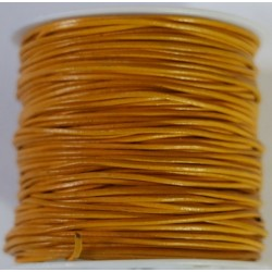 Cordon de Cuero Mostaza 1mm