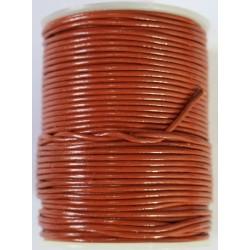 Cordon de Cuero Ladrillo 1.5 mm