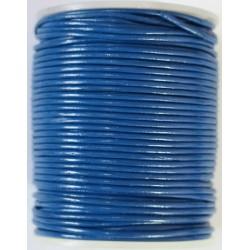 Cordon de Cuero Azul 1.5mm