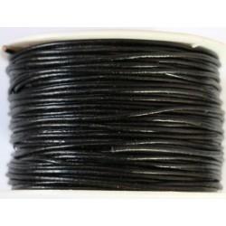 Cordon de Cuero Negro 1.5mm