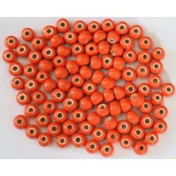 Cuentas Ceramica Monocolor Naranja 6mm