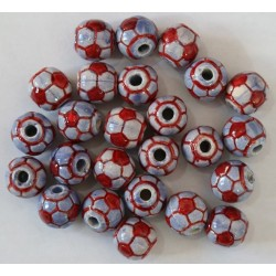 Cuentas Ceramica Bola Futbol