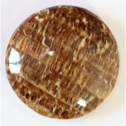 Piedra Zebrita Ranurada Cabujon Redonda